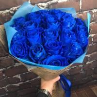 Букет 19 синих роз R004