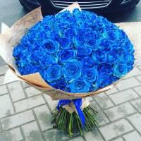Букет 39 синих роз R607
